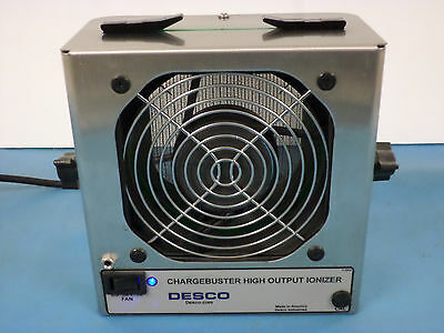 Desco 60500 Chargebuster Jr. High Output Benchtop Ionizer w/Cord & NEW Cassette