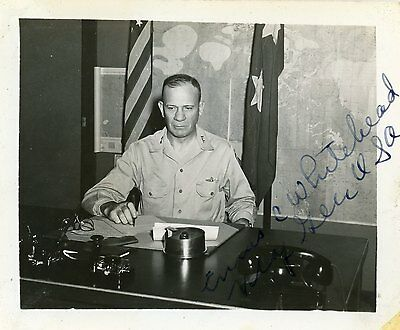 Lieutenant General Ennis C. Whitehead / Signed South Pacific Philippines 1945