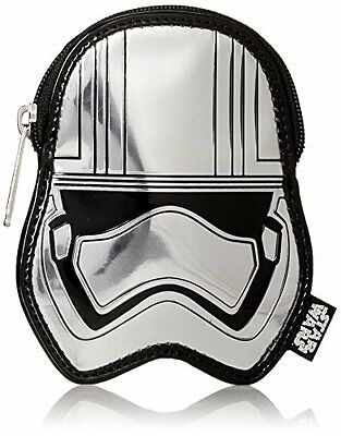 Loungefly Captain Phasma SLV Metallic Embossed Coin Purse Grey One Size