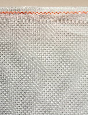 White 16 Count Zweigart Cross Stitch Aida Fat Quarter - 55cm x 50cm (19 x 21 ...