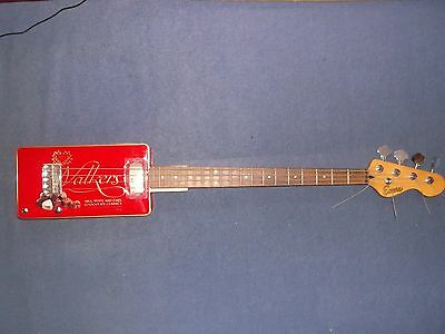 Right Handed 4 String Biscuit Tin Cigar Box Canjo Bass Guitar