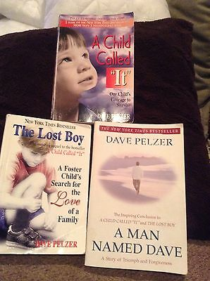 Lot of  3 Dave Pelzer A Child Called It, The Lost Boy, A Man Named Dave