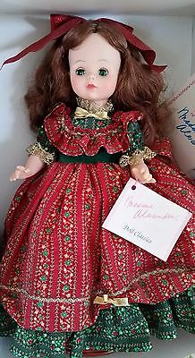 """Vintage Madame Alexander 14"""" Country Christmas Holiday Doll Green Eyes #1543"""