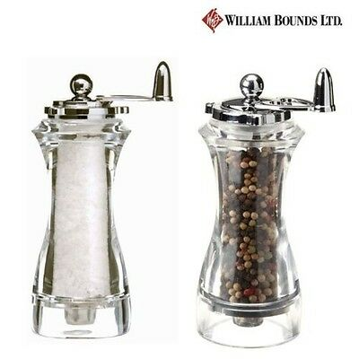 William Bounds Love Acrylic Crush Mills Sea Salt and Pepper Mill Set