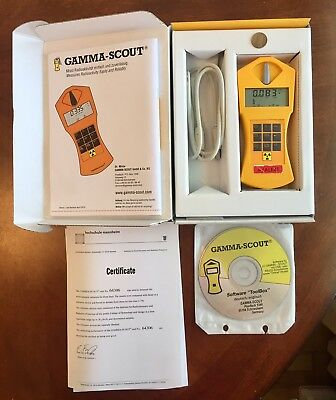 Gamma Scout w/Alert Geiger Counter - Dosimeter - With Check Source - Used