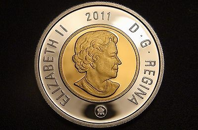 2011 Canada FINE SILVER PROOF TWO DOLLAR Coin – NICE & RARE $2 Piece!