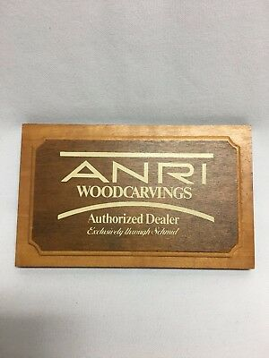Anri Woodcarving Authorized Dealer Logo Sign