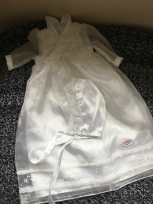 Zaph Baby Born Long Dress With Hat