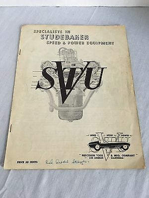 Studebaker Speed Equipment Catalog 1954 Precision Tool and MFG Co Booklet