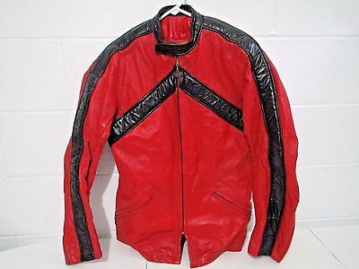 Custom BATES leather MOTORCYCLE JACKET Vintage 1970s