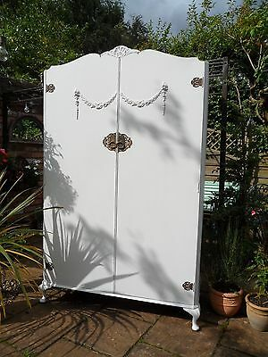 French Style Vintage Painted Wardrobe/Armoire Laura Ashley Interior Shabby Chic