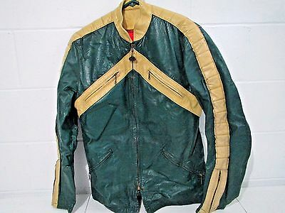 BATES leather MOTORCYCLE JACKET Vintage 1970s Size 38 (M)