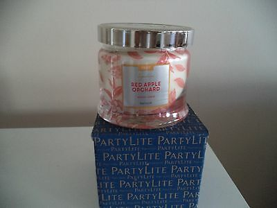 Partylite RED APPLE ORCHARD SIGNATURE 3-wick JAR CANDLE  NEW FALL 2016 NIB