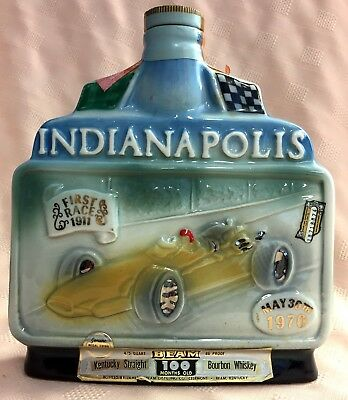 Jim Beam   Indianapolis 54Th Indy 500 May 30Th 1970 Commemorative Decanter