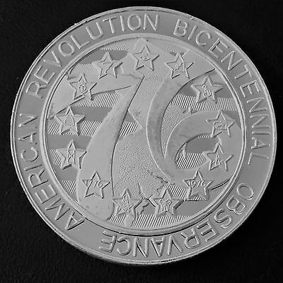 Revolution Bicentennial Lodge of New Jersey 1 Troy oz .999 Silver Art Round W2