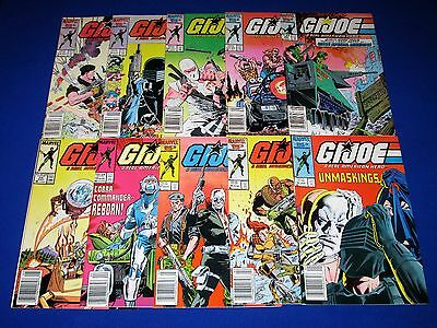 Lot 10 G.I. JOE A Real American Hero Issues 50-59 [Marvel 1986] VG/NM Or Better!