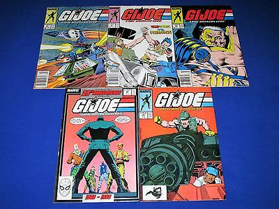 Lot of 5 G.I. JOE A Real American Hero Issues [Marvel 1988] VG/NM Or Better!