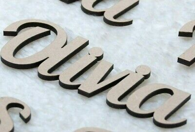 Disney , 20 fonts Wooden name Script Names Letters Words MDF Personalised  Art