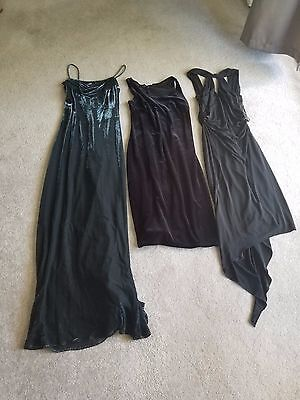 lot of 3 formal black dresses petite small size 5/6 David Meister