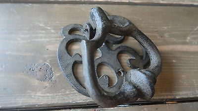 Brown Cast Iron Door Knocker 5 x 4.5 inches
