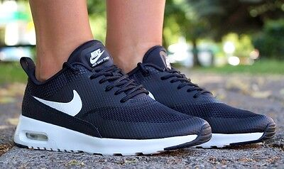 Nike Air Max Thea Women Shoes Trainers Sneakers Black White 599409-020 US Size 5