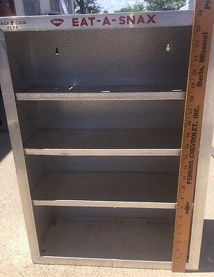 Vintage Toms Eat A Snax Display Shelf With Self-Pay Coin Slot Aluminum
