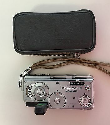 Vintage Mamiya 16 Automatic 2484292 Miniature Spy Camera with Case