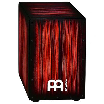 Meinl Percussion HCAJ2RTS Headliner Series String Cajon, Rojo Tiger Stripe