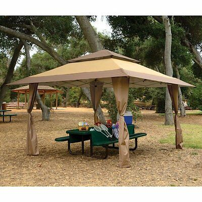 Patio Gazebo Canopy 13 x 13 Outdoor Pop Up Sun Tan Shelter BBQ Picnic Tent Event & Z-SHADE GAZEBO 13u0027 X 13u0027 Outdoor Camping Cookout Party Tent Shade ...
