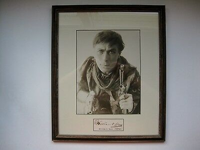 WILLIAM S. HART,  PHOTOGRAPH and SIGNED CUT Dated 1942 Silent Screen Cowboy Star