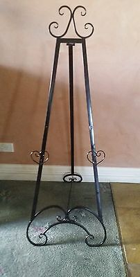 Easel black 122 cm wedding easel  picture stand
