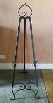 Easel black 124 cm wedding easel  picture stand