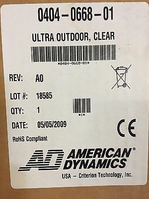 Lot of 4, American Dynamics 0404-0668-01 ULTRA SPEEDOME PTZ CLEAR COVER NIB