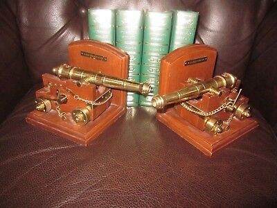 """Vintage Pair Of """"brass""""~U.s.s Constitution Bookends ~Ex. Cond.~Very Unique!"""