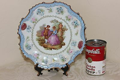"Porcelain Plate, Hand Painted, Fragonard, Signed ""M Young"", Armando & Rachel '76"