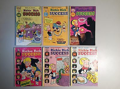 Lot of (6) Richie Rich Success Stories Bronze Age Harvey Comic Books