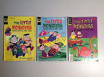 Lot of (3) The Little Monsters Bronze Age Comic Books- Gold Key, Whitman