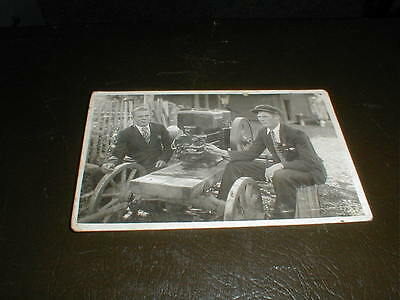 Original postcard photo hit and miss engine