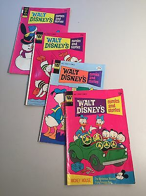 Lot of (4) Walt Disney's COMICS  & STORIES Bronze Age Comic Books- Donald Duck
