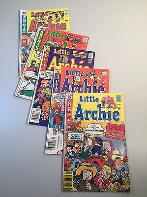 Lot of (5) Little Archie Bronze Age Comic Books- Fawcett- VG/VF