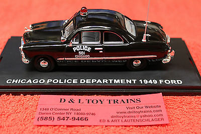 FRD104 First Response 1949 Ford Chicago Police Department Police Car New In Box