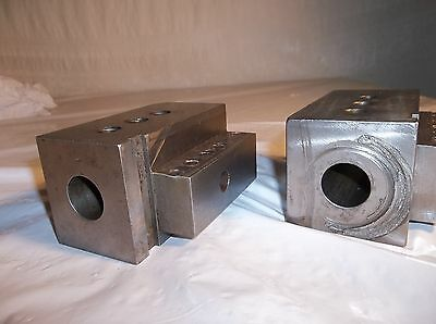 "(2) CNC OKUMA Flat Bed Turret Toolholding Blocks, 1"" ID"