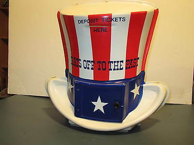 Hats Off To The Past Plastic Ticket Collection  Container Vintage American Oil