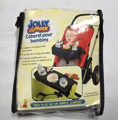 Jolly Jumper Kiddy Kaddy Stroller Snack Tray Car Seat Accessories Cup Holder NEW