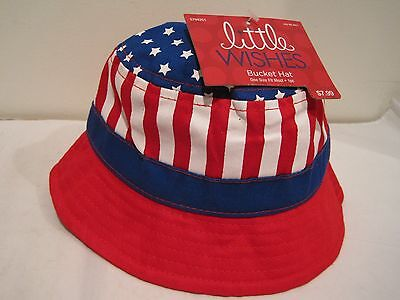 Bucket Hat for Baby or Toddler by Little Wishes one size - Cute, Paatriotic