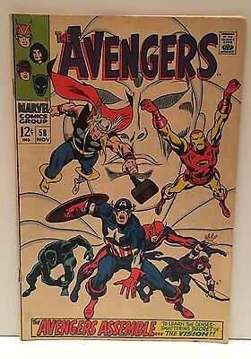 Marvel Comics The Avengers Even and Android Can Cry 1968 No. 58 FN/VF 7.0