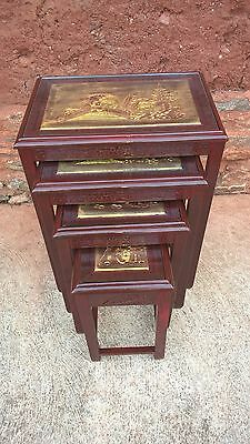 Oriental Nest Of Tables / Coffee Tables....FREE DELIVERY ?