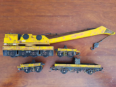 Hornby R6204 Break Down Crane Knuckles Weathered No Jacks Unboxed Oo Gauge(Bw)