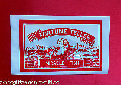 Bulk Lot  5 Fortune Teller Miracle Fish Hens Nights & Party Favor Toy Novelty