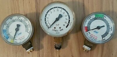 Steampunk-Industrial art-3 pressure guages-used-FREE SHIPPING!